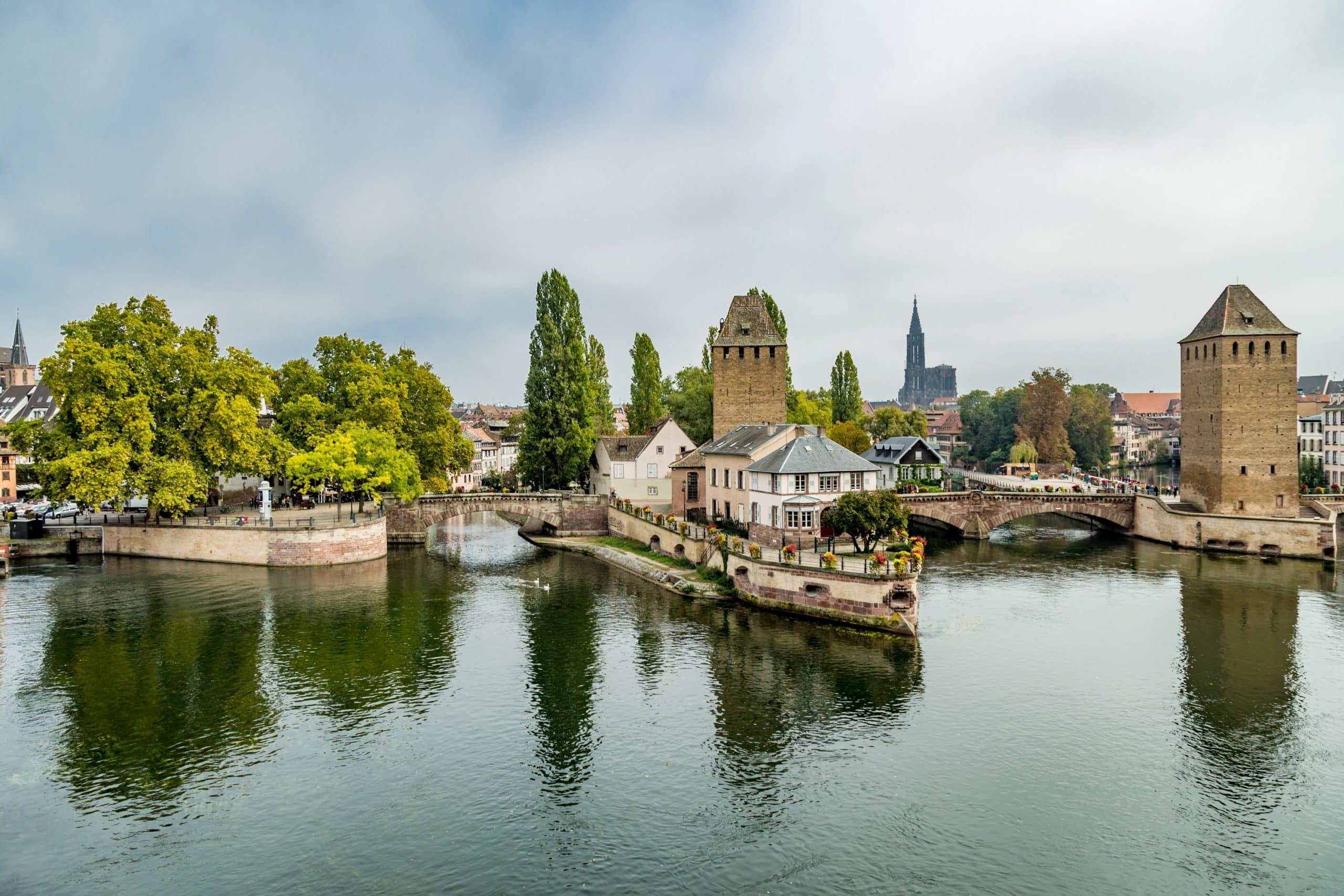 Vue sur Strasbourg et son centre historique