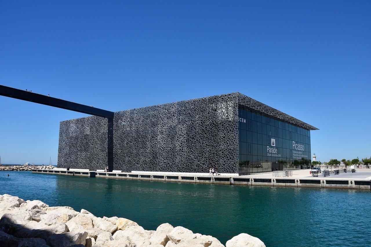 Mucem à Marseille et mer Méditerranéenne
