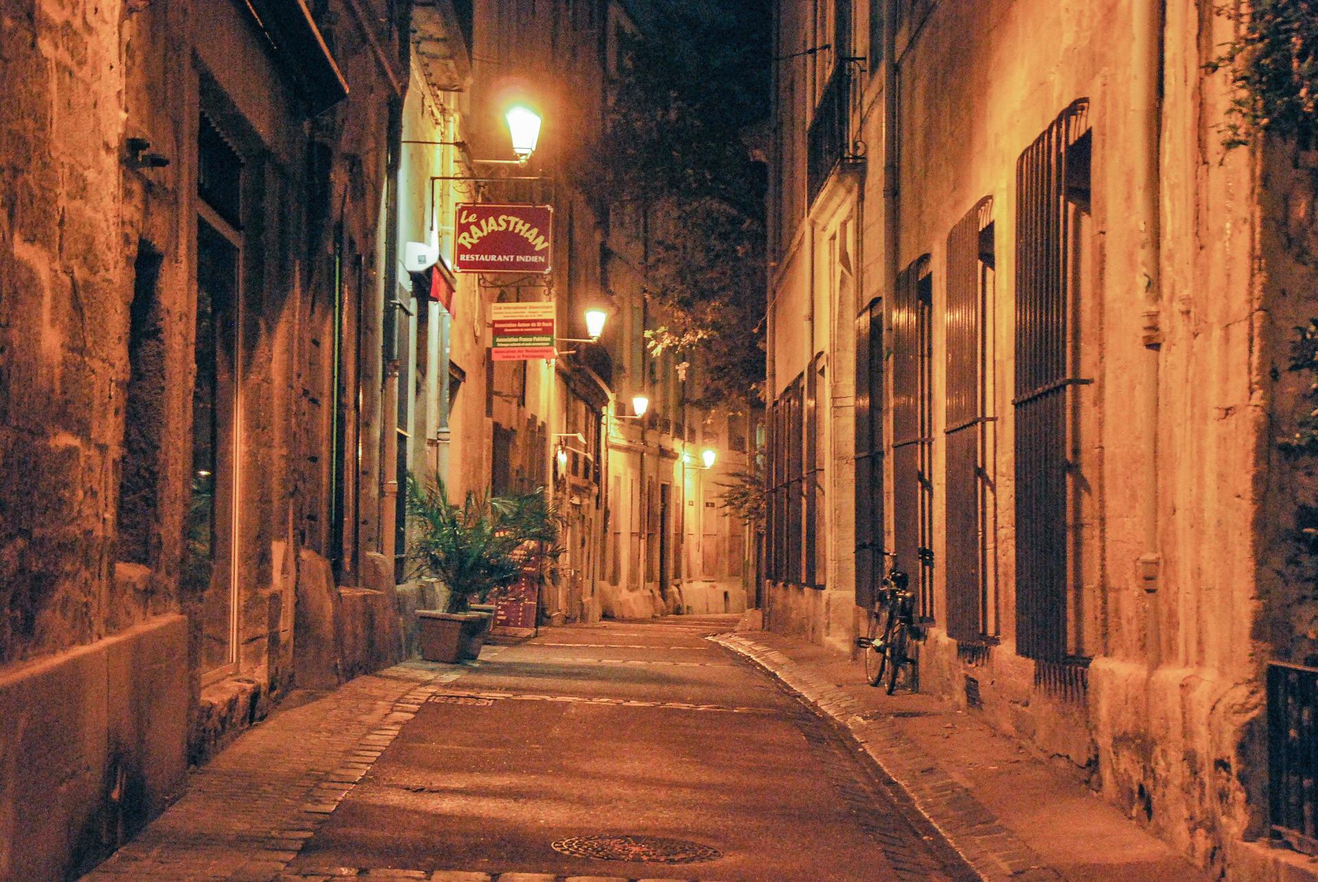 Ruelles de Montpellier le soir