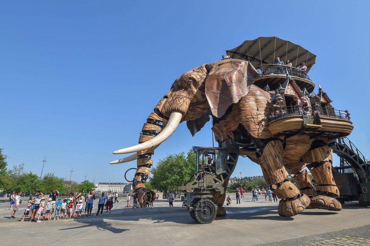 Machine de l'ile éléphant à Nantes